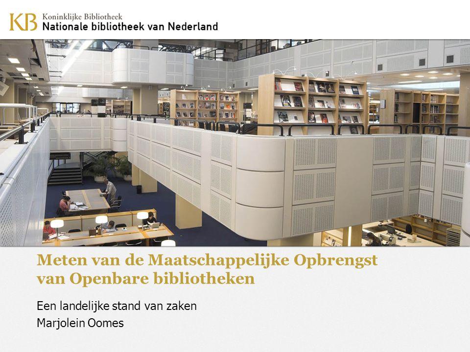Meten van de Maatschappelijke Opbrengst van Openbare bibliotheken