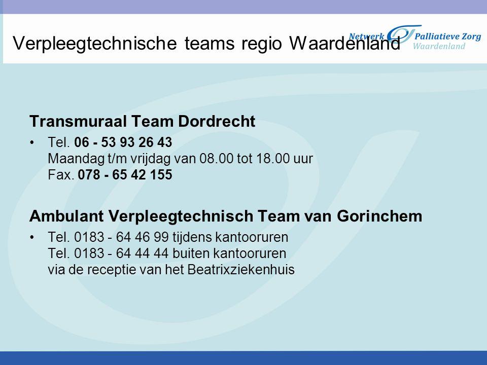 Verpleegtechnische teams regio Waardenland