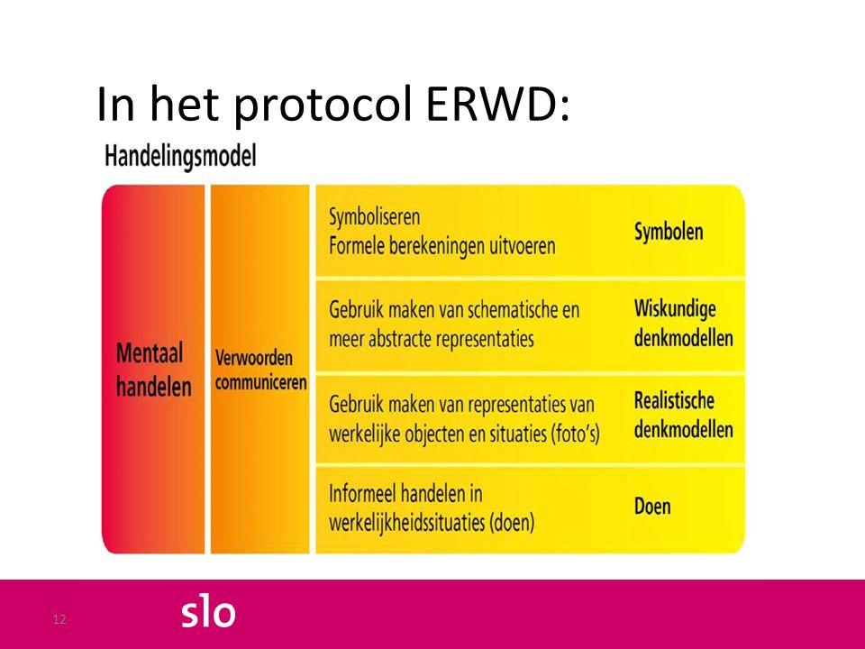 In het protocol ERWD: