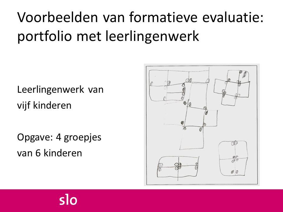 Voorbeelden van formatieve evaluatie: portfolio met leerlingenwerk