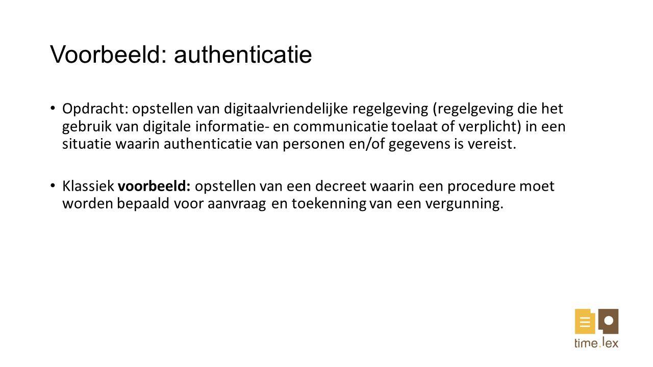 Voorbeeld: authenticatie