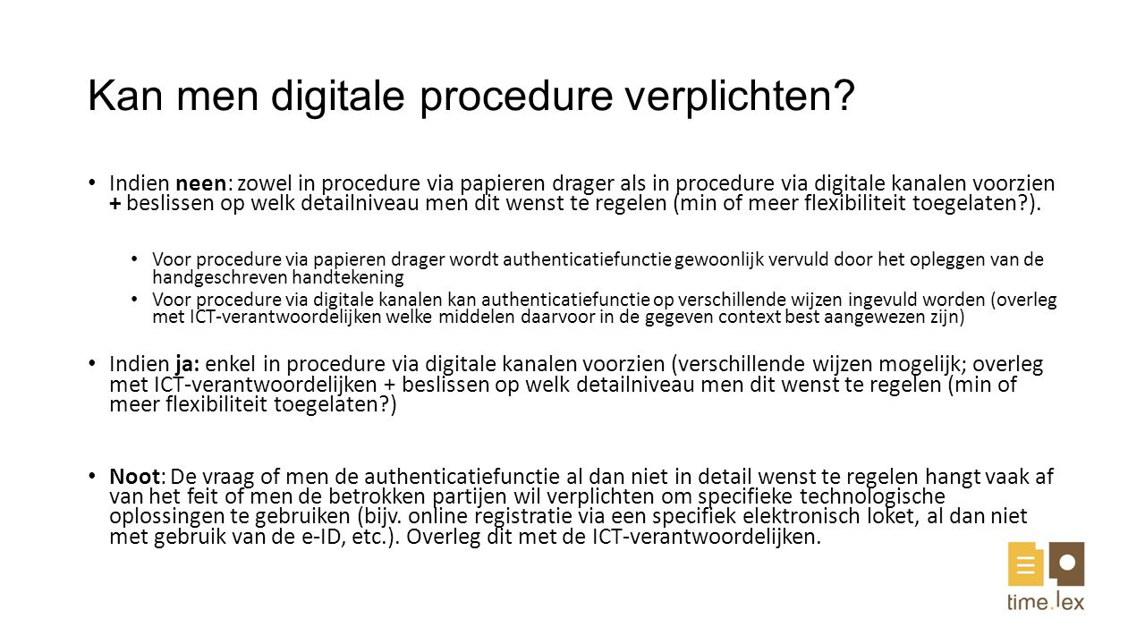 Kan men digitale procedure verplichten