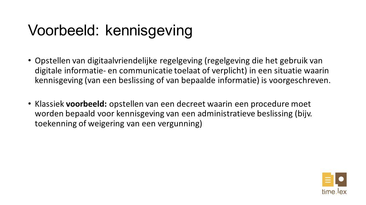 Voorbeeld: kennisgeving