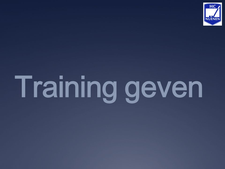 Training geven
