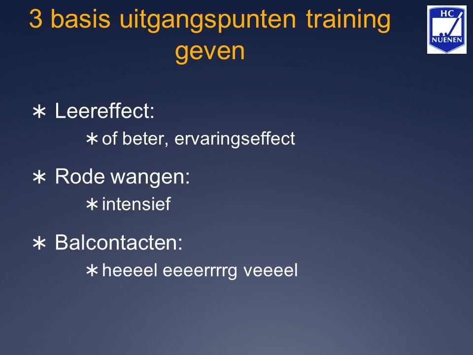 3 basis uitgangspunten training geven