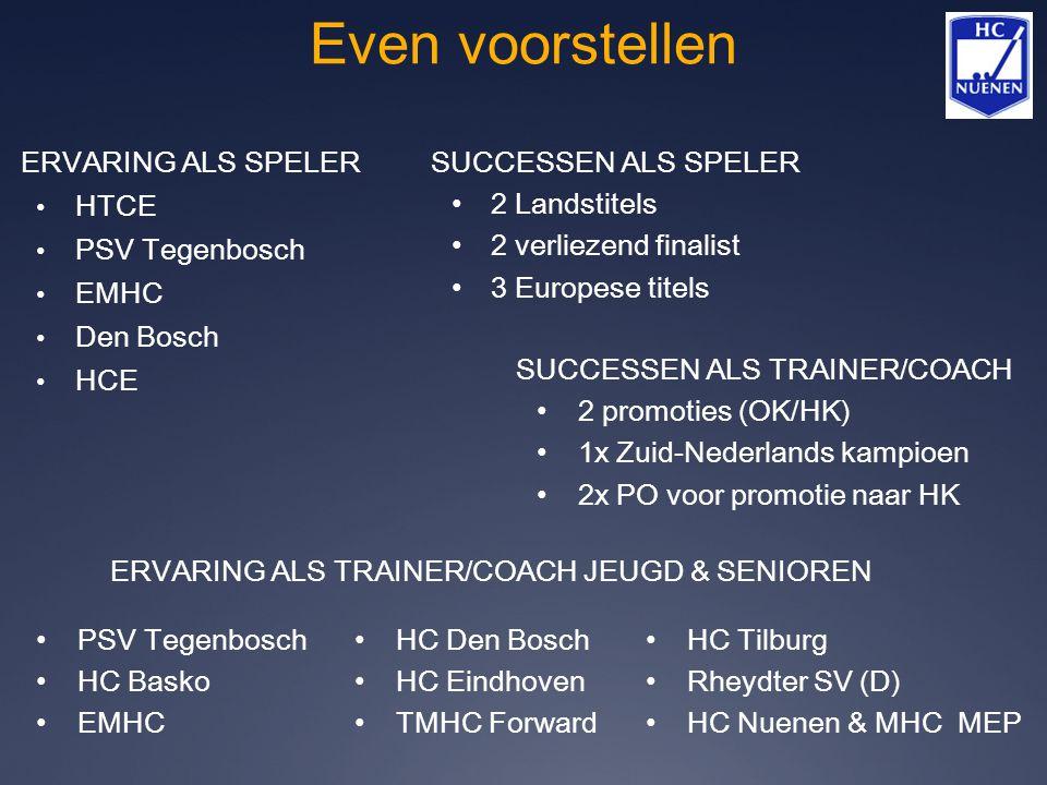 Even voorstellen ERVARING ALS SPELER HTCE PSV Tegenbosch EMHC