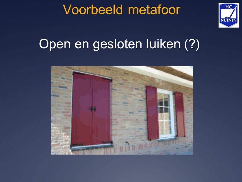 Open en gesloten luiken ( )
