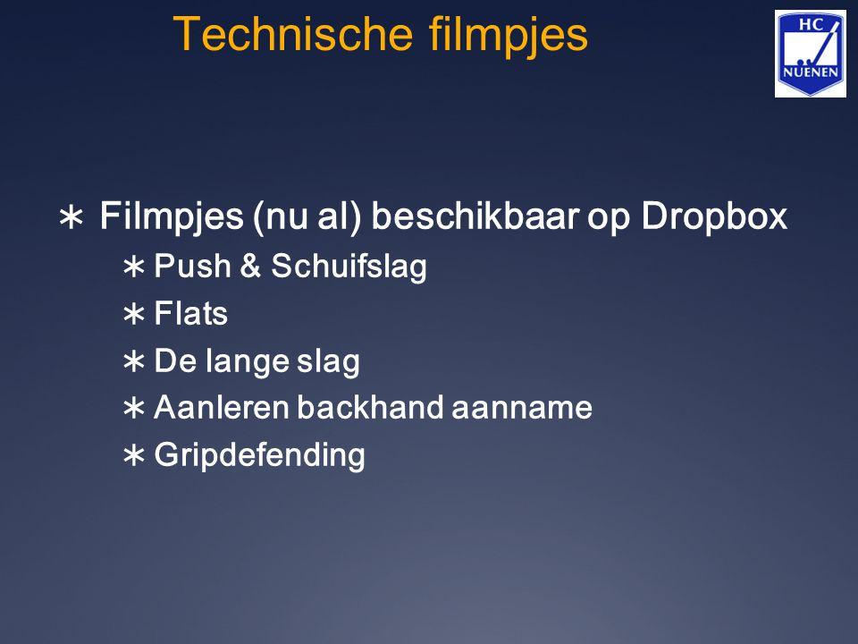 Technische filmpjes Filmpjes (nu al) beschikbaar op Dropbox