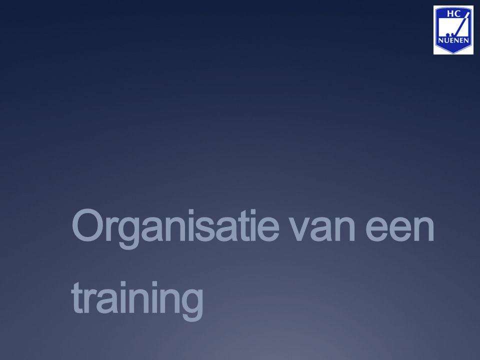Organisatie van een training