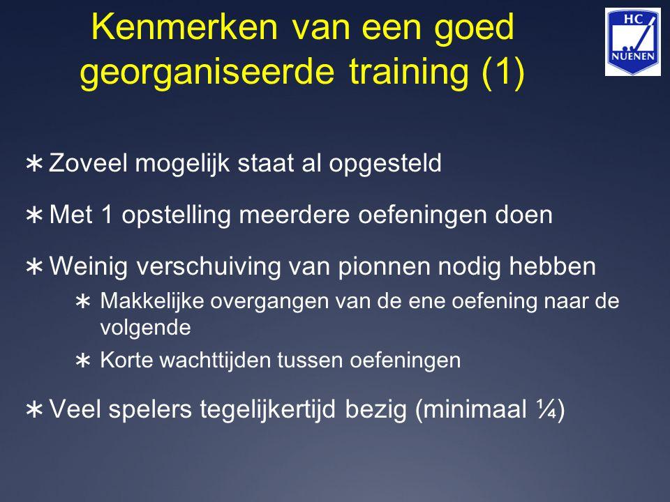 Kenmerken van een goed georganiseerde training (1)