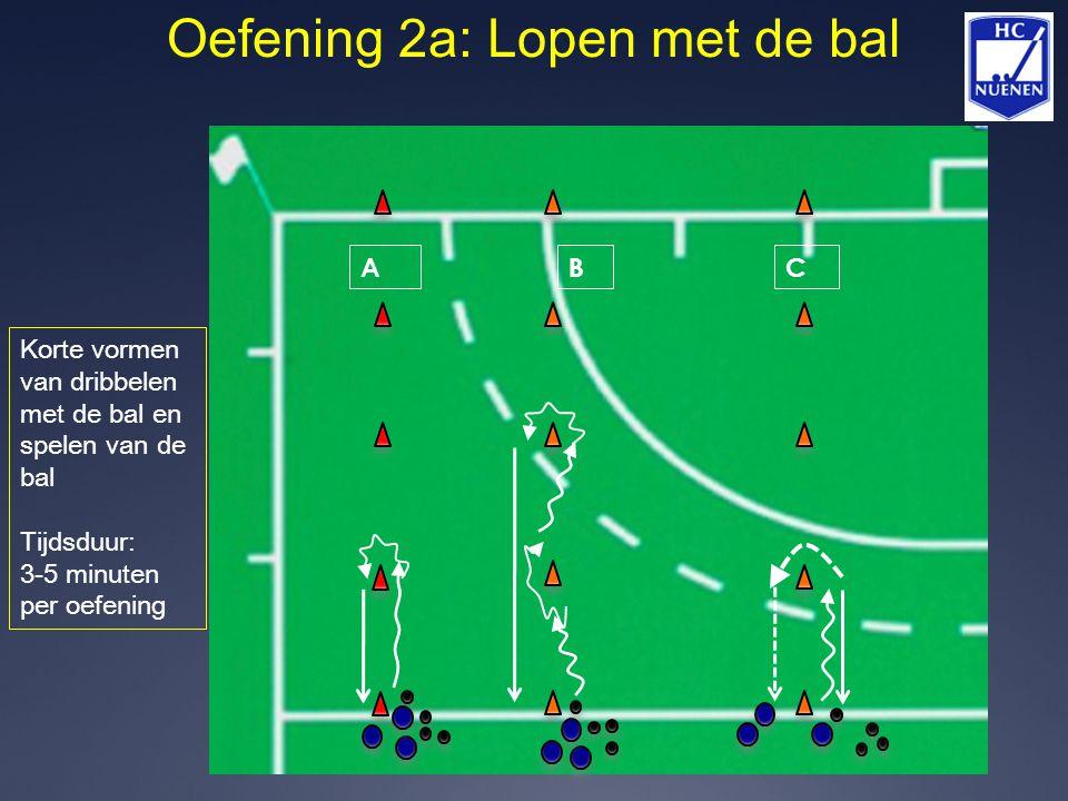 Oefening 2a: Lopen met de bal