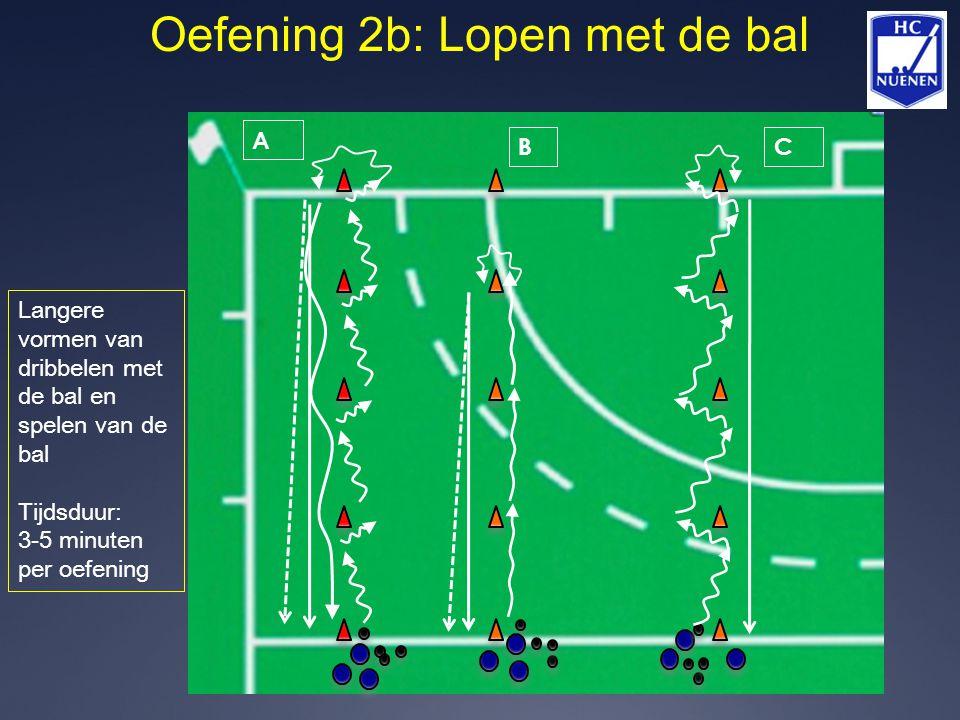Oefening 2b: Lopen met de bal