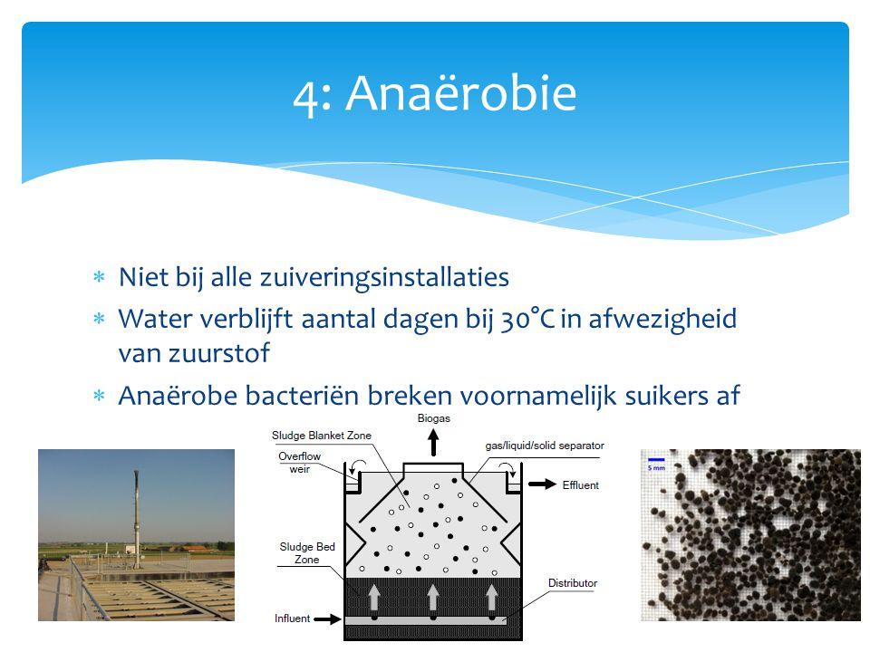 4: Anaërobie Niet bij alle zuiveringsinstallaties