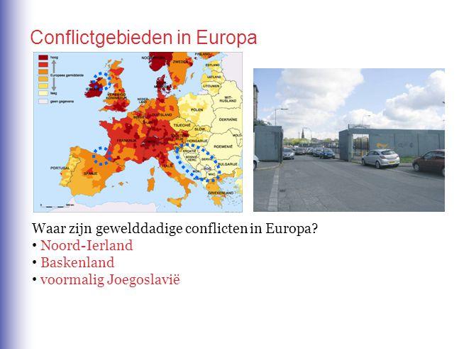 Conflictgebieden in Europa
