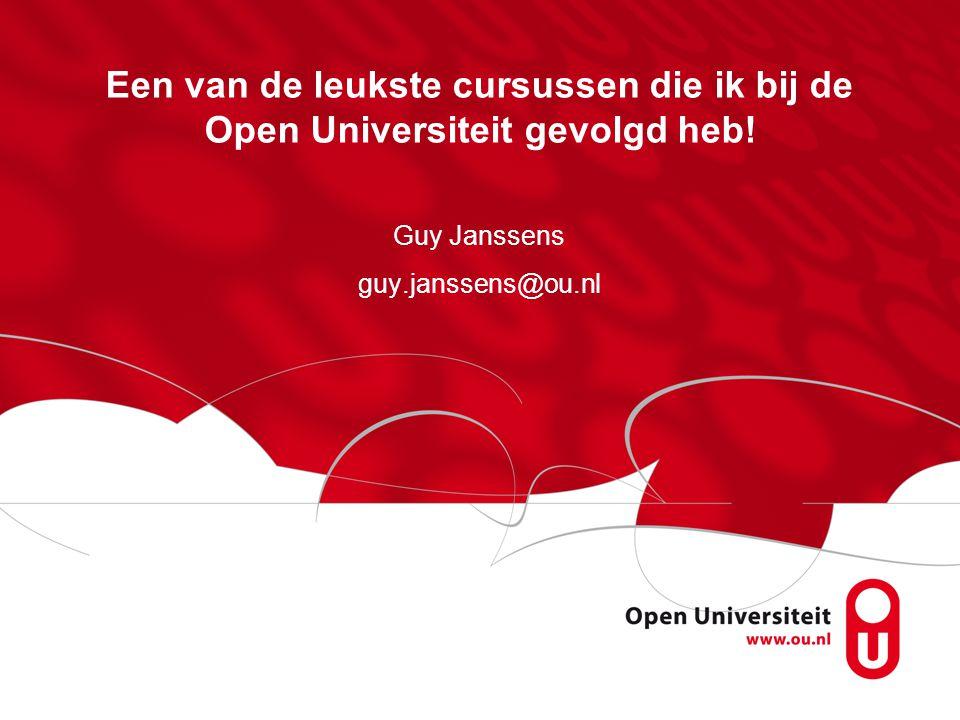 Guy Janssens guy.janssens@ou.nl