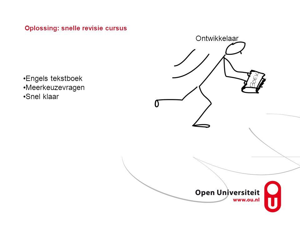 Oplossing: snelle revisie cursus