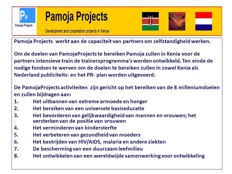 Pamoja Projects werkt aan de capaciteit van partners om zelfstandigheid werken.