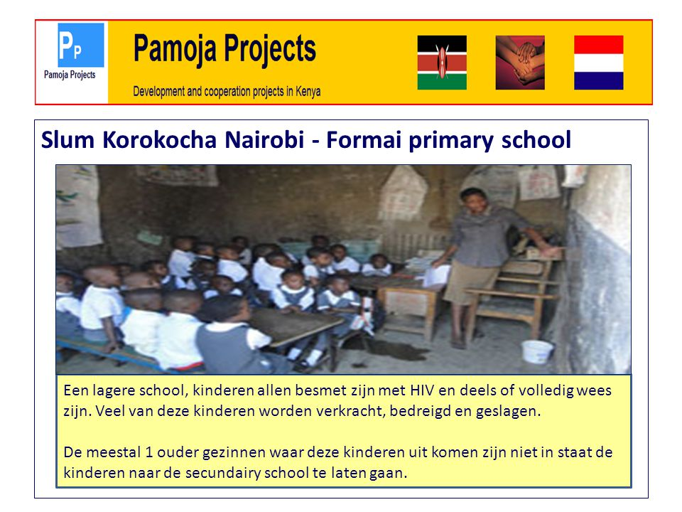 Slum Korokocha Nairobi - Formai primary school