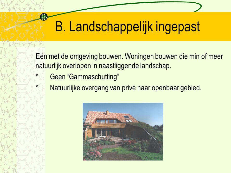 B. Landschappelijk ingepast