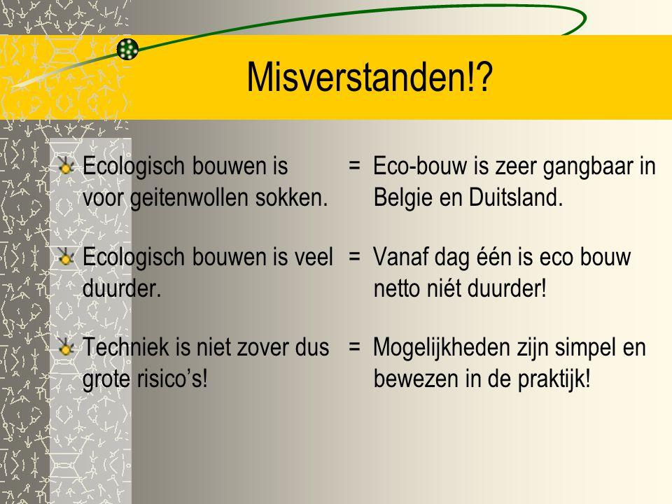 Misverstanden! Ecologisch bouwen is voor geitenwollen sokken.