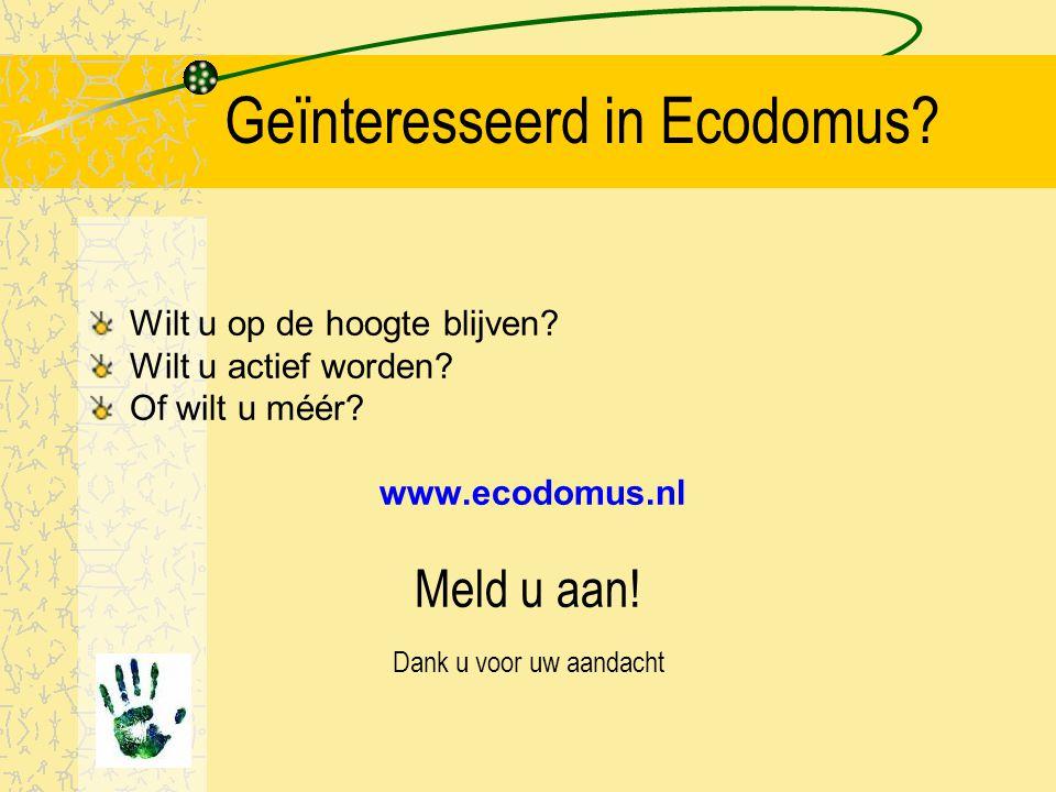 Geïnteresseerd in Ecodomus