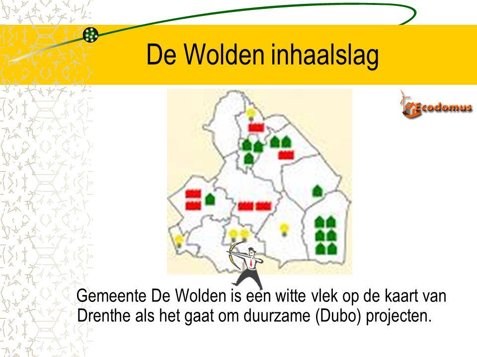 De Wolden inhaalslag Gemeente De Wolden is een witte vlek op de kaart van Drenthe als het gaat om duurzame (Dubo) projecten.