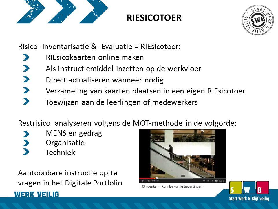 RIESICOTOER Risico- Inventarisatie & -Evaluatie = RIEsicotoer:
