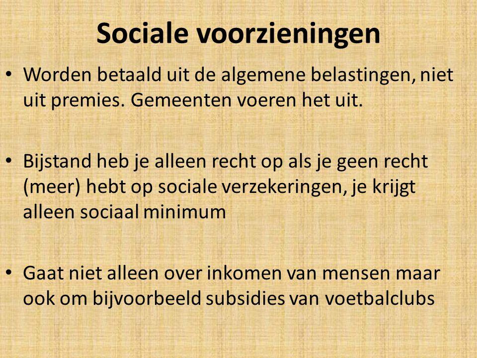 Sociale voorzieningen
