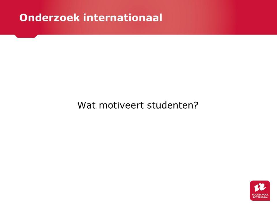 Onderzoek internationaal