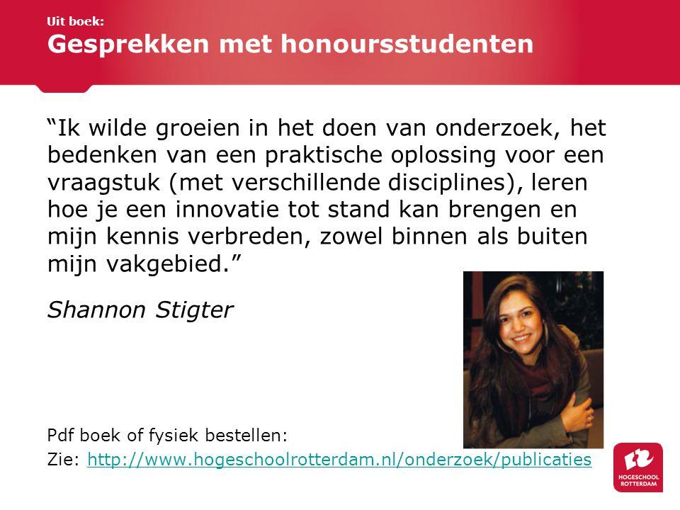 Uit boek: Gesprekken met honoursstudenten
