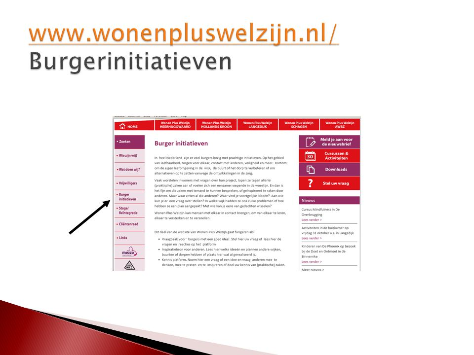 www.wonenpluswelzijn.nl/ Burgerinitiatieven