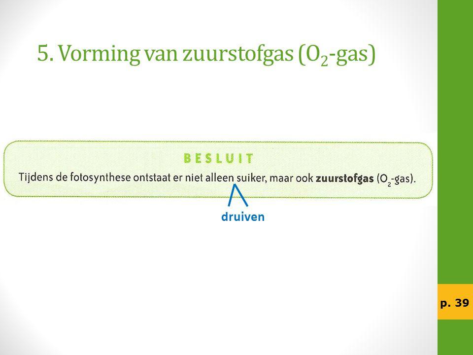 5. Vorming van zuurstofgas (O2-gas)
