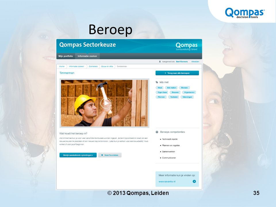 Beroep © 2013 Qompas, Leiden