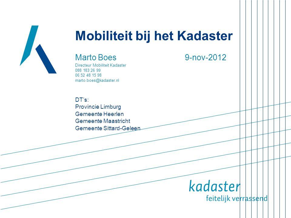 Mobiliteit bij het Kadaster