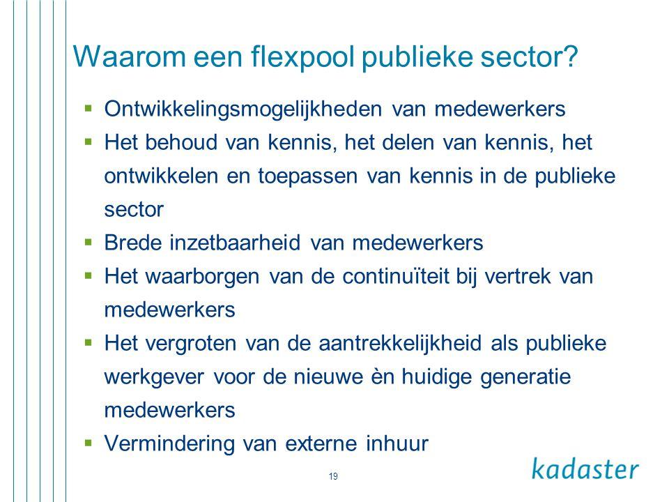 Waarom een flexpool publieke sector