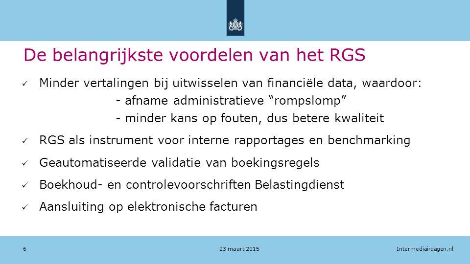 De belangrijkste voordelen van het RGS