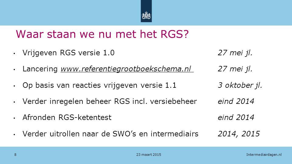 Waar staan we nu met het RGS