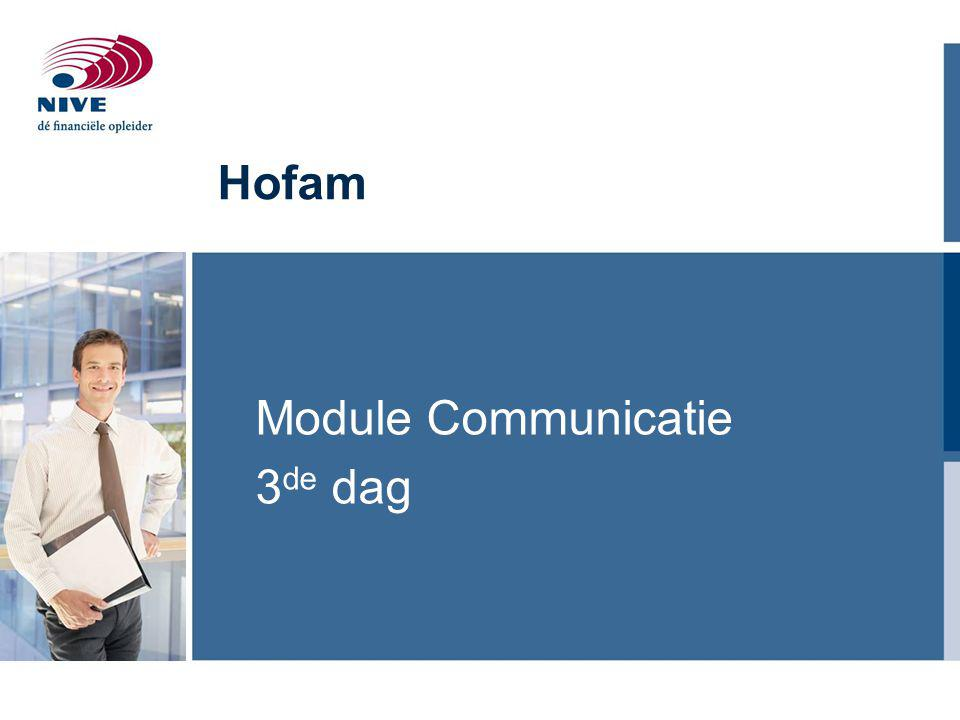 Module Communicatie 3de dag