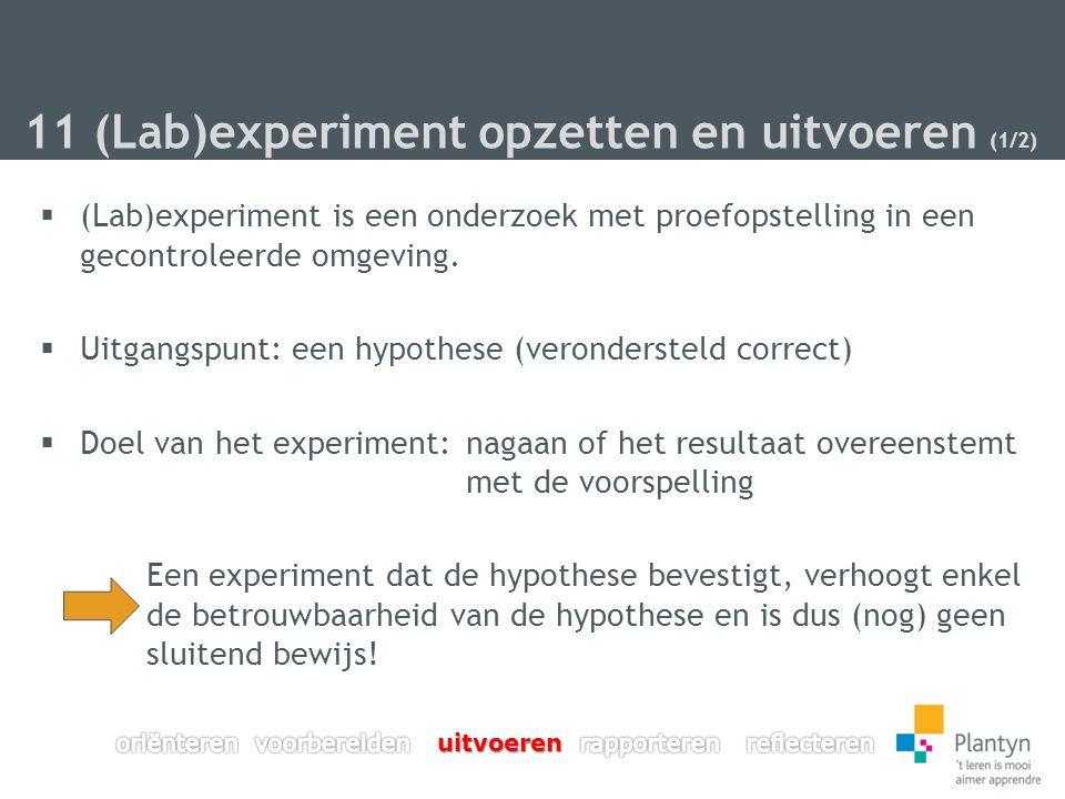 11 (Lab)experiment opzetten en uitvoeren (1/2)
