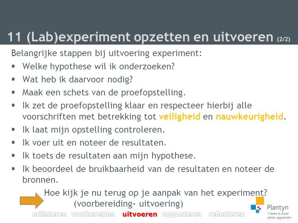 11 (Lab)experiment opzetten en uitvoeren (2/2)