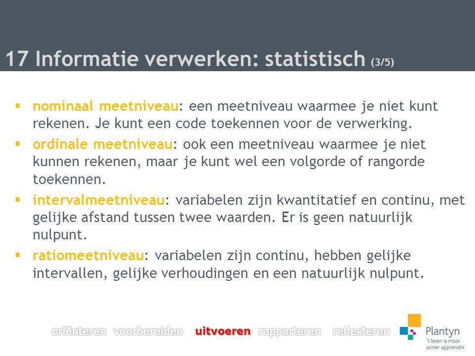 17 Informatie verwerken: statistisch (3/5)
