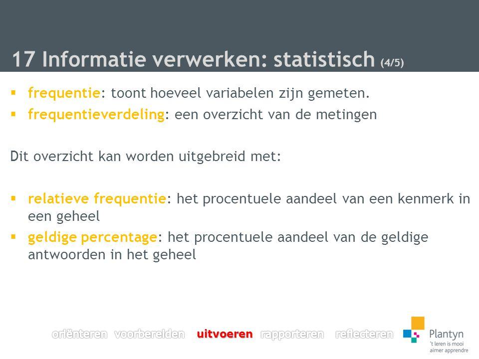 17 Informatie verwerken: statistisch (4/5)