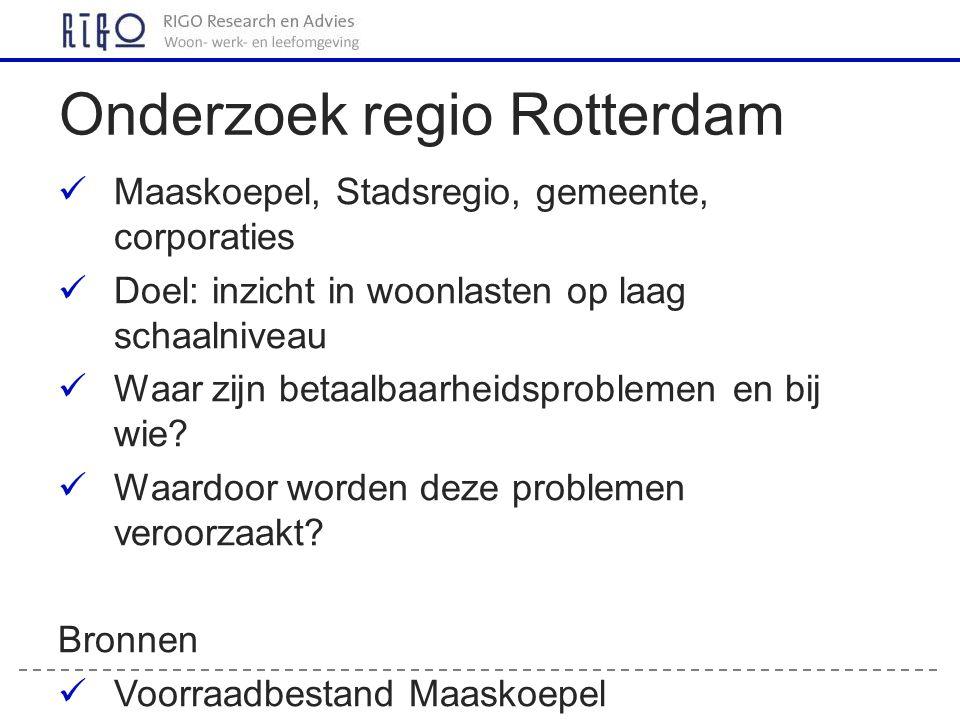 Onderzoek regio Rotterdam