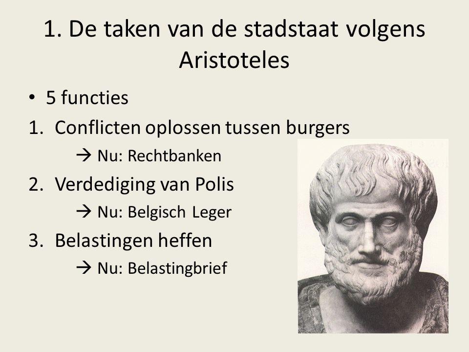 1. De taken van de stadstaat volgens Aristoteles