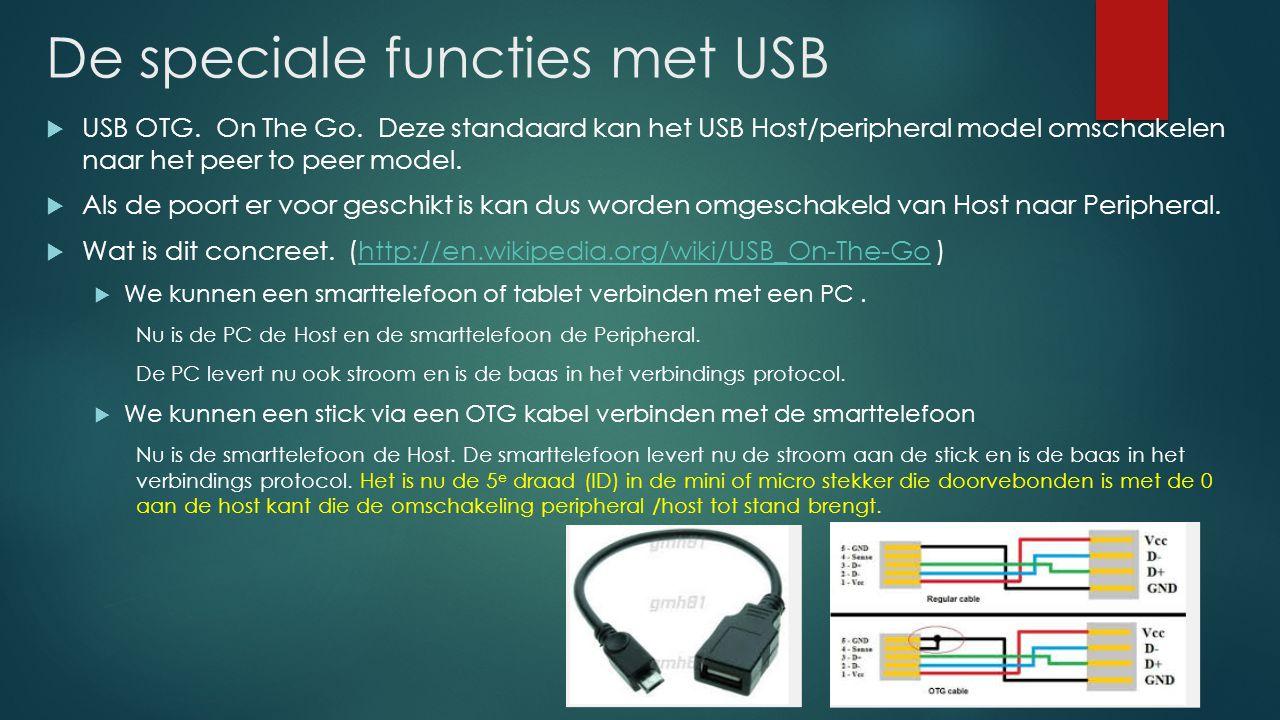 De speciale functies met USB