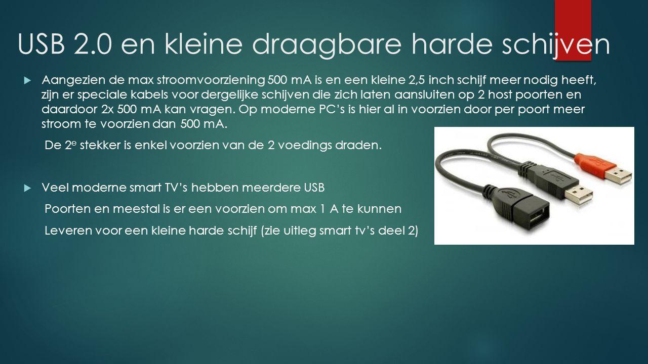 USB 2.0 en kleine draagbare harde schijven