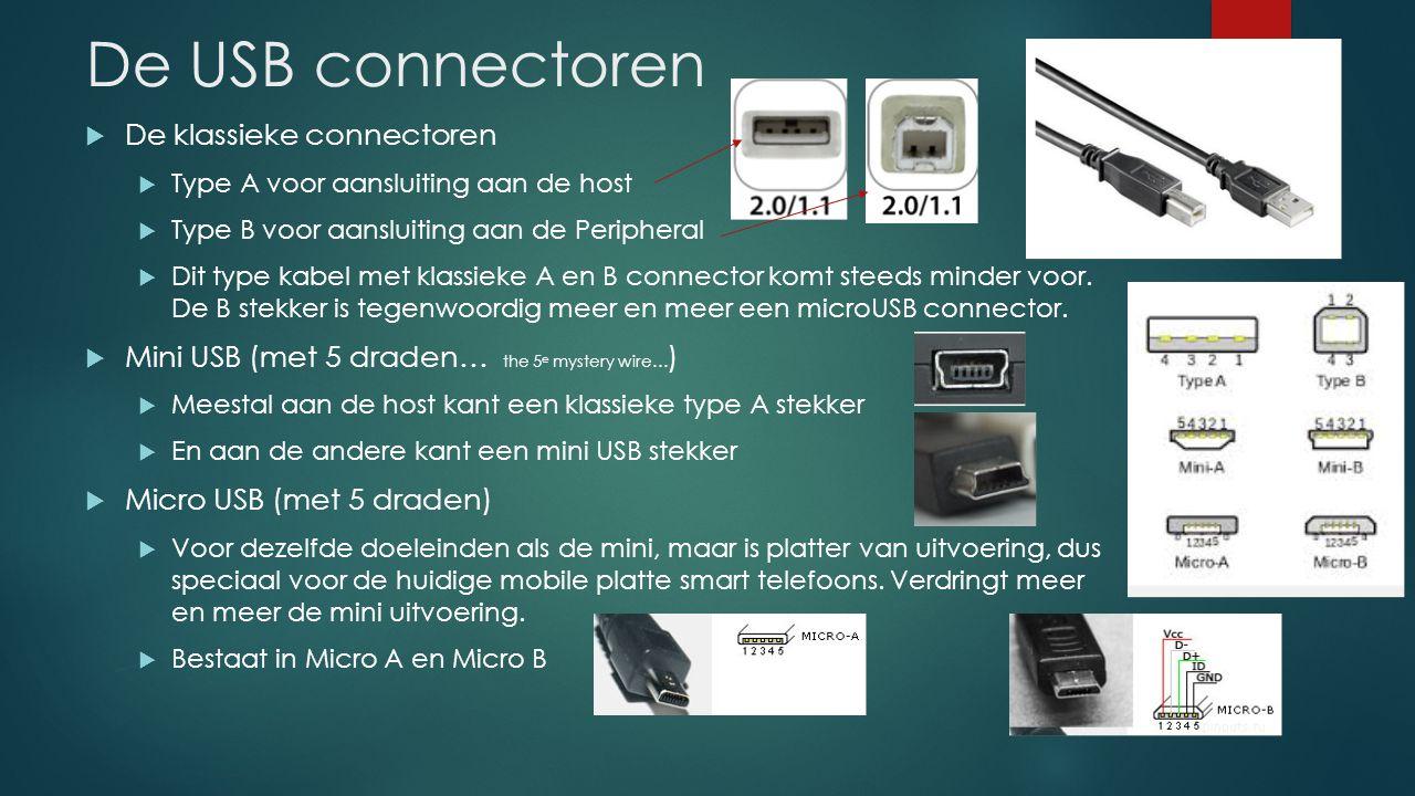 De USB connectoren De klassieke connectoren