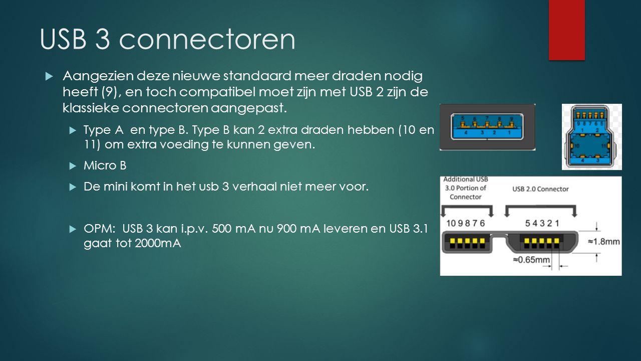 USB 3 connectoren