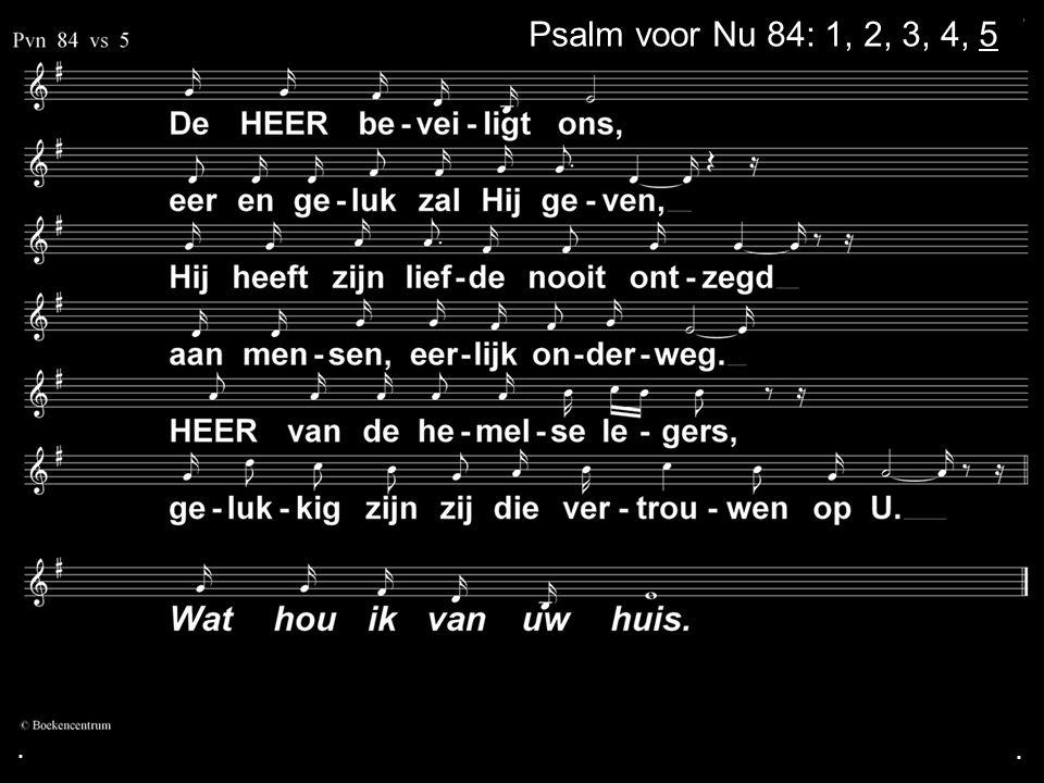 . Psalm voor Nu 84: 1, 2, 3, 4, 5 . .