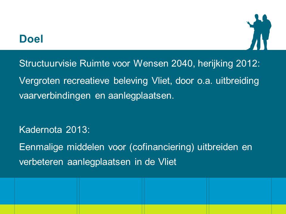 Doel Structuurvisie Ruimte voor Wensen 2040, herijking 2012: